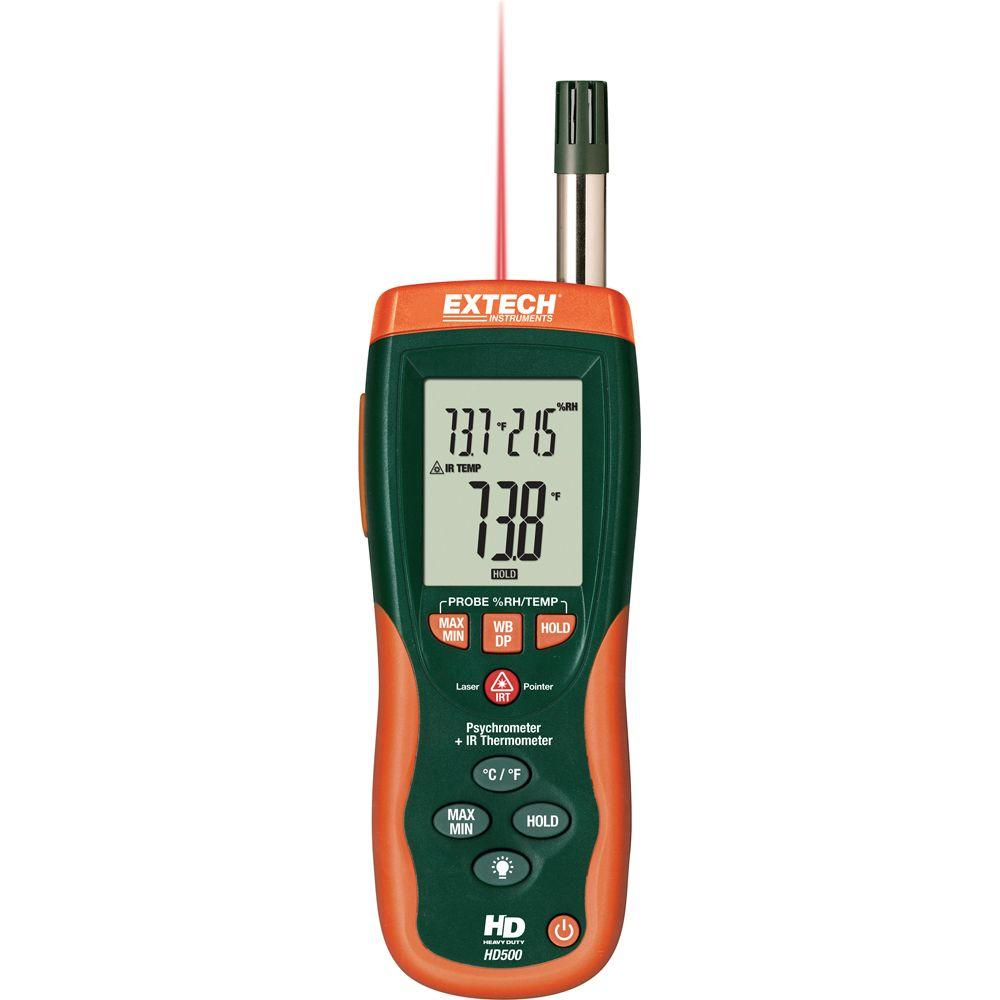 Psychrometer with Infrared Thermometer and NIST
