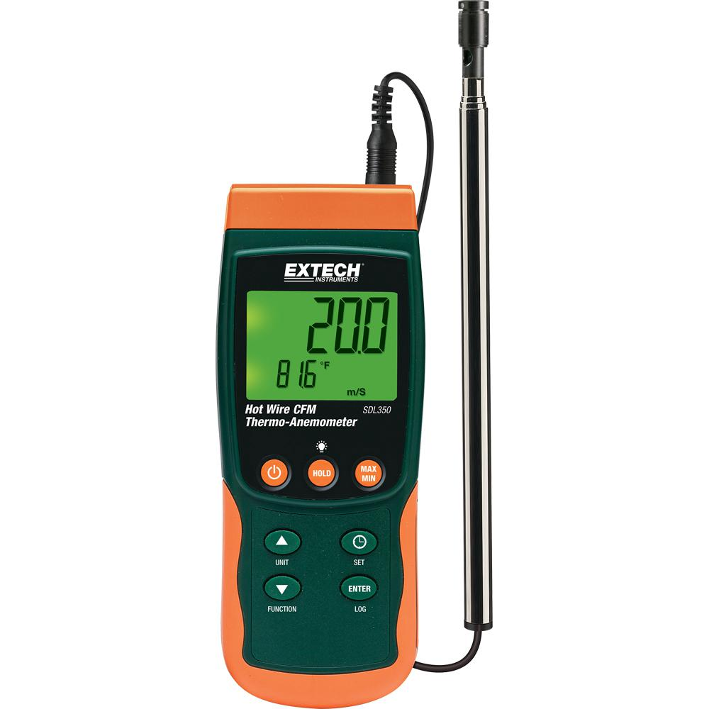 Hot Wire Thermo-Anemometer SD Logger with NIST