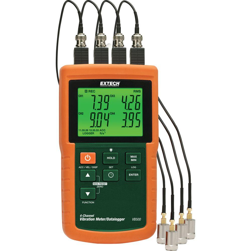 4-Channel Vibration Meter/Data Logger with NIST