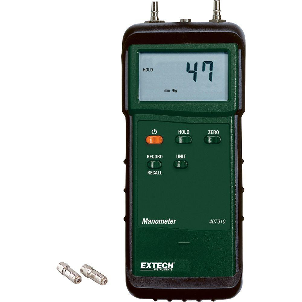 29 psi Heavy Duty Differential Pressure Manometer with NIST