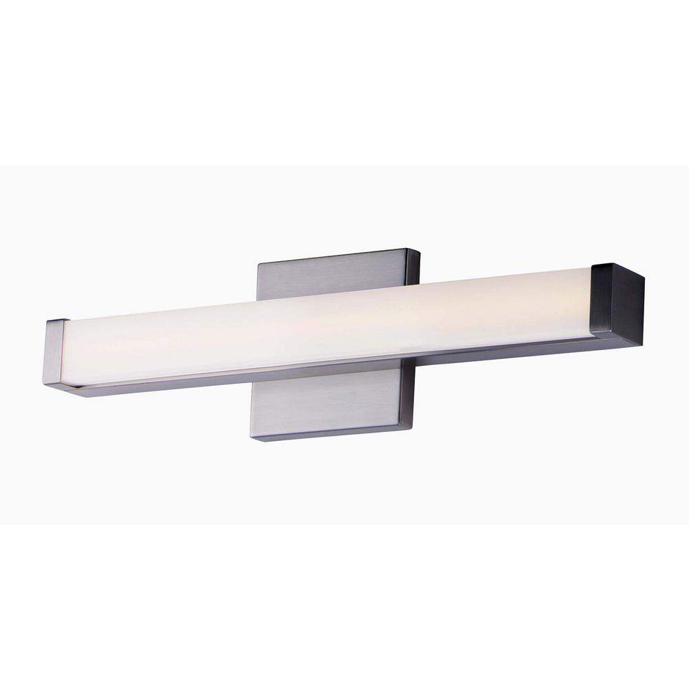 Spec 18 in. Satin Nickel LED Vanity Light Bar
